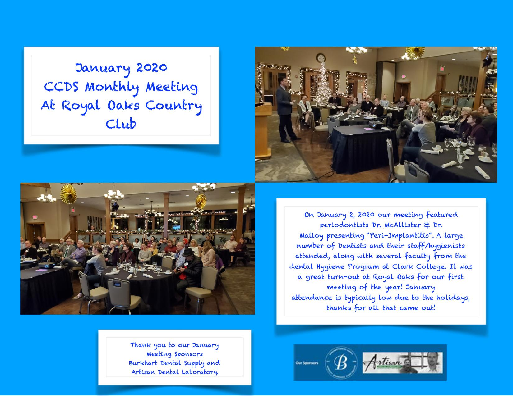 January 2020 meeting collage